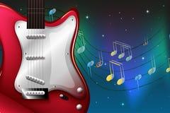 Una guitarra eléctrica roja Fotografía de archivo libre de regalías