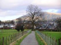 Una hermosa vista de Cat Bells que la ciudad outskirts, Cumbria, Inglaterra Fotografía de archivo libre de regalías