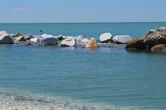 Una hermosa vista del mar de Lingurian Imagen de archivo libre de regalías