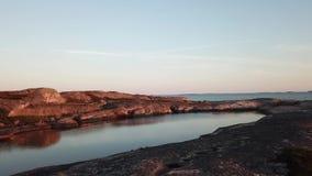 Una hermosa vista sobre las islas aquí en el archipiélago de Finlandia almacen de video