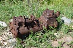 Una herramienta antigua de la explotación minera en un museo al aire libre Imagen de archivo libre de regalías