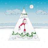 Una historieta con Papá Noel ilustración del vector