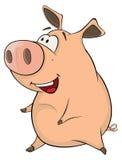 Una historieta linda del animal del campo de cerdo Imagen de archivo libre de regalías