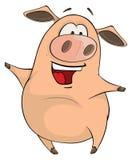 Una historieta linda del animal del campo de cerdo Fotos de archivo libres de regalías
