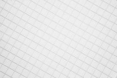Una hoja de papel en un fondo de la jaula Fotos de archivo