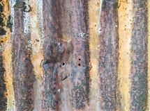 Una hoja oxidada del cinc Fotografía de archivo