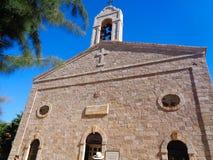 una iglesia cristiana en Jordania imagenes de archivo