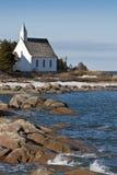 Una iglesia en Charlevoix foto de archivo libre de regalías