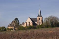 Una iglesia en l'Hermitage del castillo francés imagenes de archivo