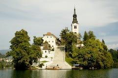 Una iglesia en la isla Imagen de archivo libre de regalías