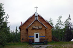 Una iglesia minúscula en Alaska Fotografía de archivo