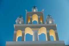 Una iglesia ortodoxa en Santorini Imagen de archivo