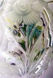 Una imagen abstracta obtenida en un pedazo de vidrio imagen de archivo