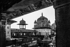 Una imagen blanco y negro con el fuerte de Agra Agra, Uttar Pradesh, la India, Asia Imagen de archivo libre de regalías
