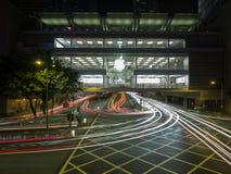 Una imagen con la velocidad de obturador lenta del Apple Store en Hong Kong fotos de archivo libres de regalías