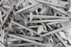 Una imagen de algunos clavos del acero - material de construcción Fotografía de archivo libre de regalías