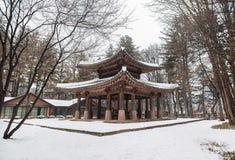 Una imagen de una pagoda coreana del estilo fotografía de archivo libre de regalías