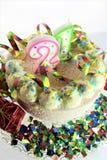 Una imagen de una torta de cumpleaños - del concepto cumpleaños 21 Foto de archivo