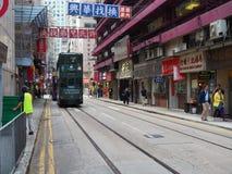 Una imagen de una tranvía en listo calle fotos de archivo