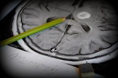 Una imagen de un movimiento Enfermedad y enfermedad de la demencia como pérdida de función y de memorias del cerebro fotografía de archivo libre de regalías