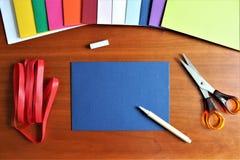 Una imagen de un sobre, oficina foto de archivo libre de regalías