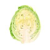 Una imagen de una cabeza de la col fresca Foto de archivo libre de regalías