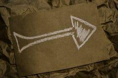 Una imagen de una flecha Fotografía de archivo libre de regalías