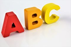 Una imagen del concepto de las letras de ABC con el espacio de la copia Fotografía de archivo libre de regalías