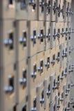 Una imagen del primer de armarios en un balneario foto de archivo libre de regalías