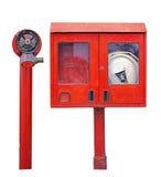 Opinión del frount de la boca de incendios Foto de archivo libre de regalías