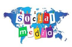 Medios del Social del mundo Foto de archivo