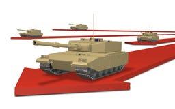 Una invasión militar ilustración del vector
