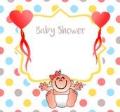 Una invitación agradable para su fiesta de bienvenida al bebé Foto de archivo libre de regalías