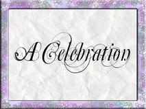 Una invitación de la celebración Imagen de archivo libre de regalías