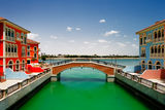 Una isla artificial Perla-Qatar en Doha, Qatar Imagen de archivo libre de regalías
