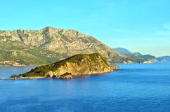 Una isla en el mar adriático Imagen de archivo libre de regalías