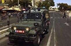 Una jeep dell'Israele Fotografie Stock