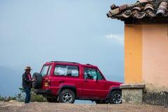 una jeep di 4 x 4 agricoltori Fotografia Stock Libera da Diritti