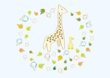 Una jirafa y un pato Foto de archivo libre de regalías