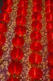 Una lámpara china roja por un Año Nuevo lunar ningún 1 Foto de archivo libre de regalías