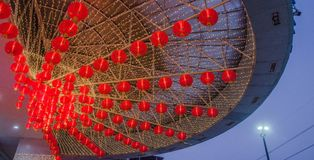 Una lámpara china roja por un Año Nuevo lunar ningún 5 Fotos de archivo libres de regalías