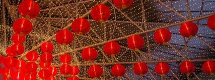 Una lámpara china roja por un Año Nuevo lunar ningún 2 Imágenes de archivo libres de regalías