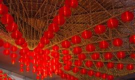 Una lámpara china roja por un Año Nuevo lunar ningún 6 Foto de archivo libre de regalías