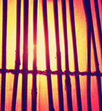 Una lámpara de bambú entonó con un efecto retro del filtro del instagram del vintage Foto de archivo libre de regalías