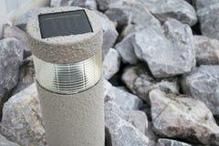 Una lámpara de la célula solar para el camino Fotografía de archivo libre de regalías