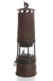 Una lámpara de minero Imágenes de archivo libres de regalías