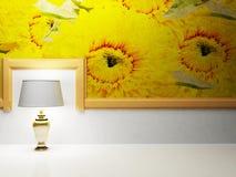 Una lámpara se está colocando en el cuarto vacío libre illustration