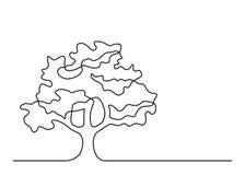 Una línea árbol 4 Foto de archivo