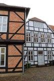 Una línea de la casa en Schwerin Fotos de archivo libres de regalías