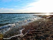 Una línea de la orilla de Nueva Inglaterra Imagen de archivo libre de regalías